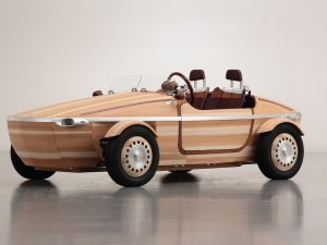 This past April, Toyota unveiled a vehicle made entirely out of wood..
